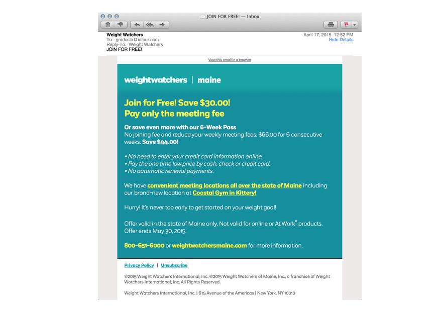 Digital Graphic Design - email design