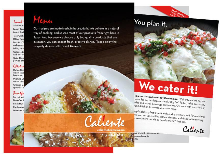 Graphic Design - menu design